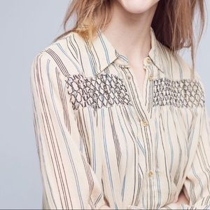 Anthropologie Floretta northfork striped tunic top
